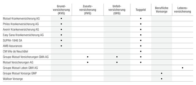 Groupe Mutuel Gesellschaften 2015