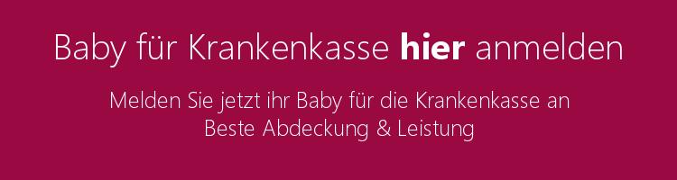 Baby Krankenkasse anmelden